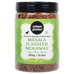 Urban Platter Masala Flaxseed Mukhwas, 300g / 10.5oz [Tangy Mouth Freshener, Digestive, After-Meal Snack]
