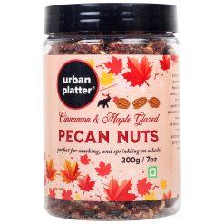 Urban Platter Cinnamon & Maple Glazed Pecan Nuts, 200g / 7oz [Flavourful, Healthy, Great On Salad]