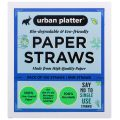 Urban Platter Eco-friendly Paper Straws [Size 8mm, Box of 100 Straws, Extra Thick Drinking Straw]