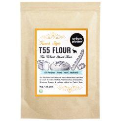 Urban Platter French T55 Fine Wheat Bread Flour, 1Kg / 35.2oz [Farine Francaise De Ble]