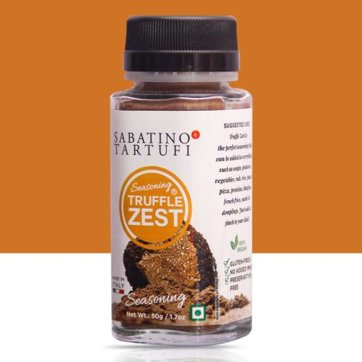 Sabatino Tartufi Italian Truffle Zest Seasoning, 50g / 1.76oz [Black Summer Truffle]