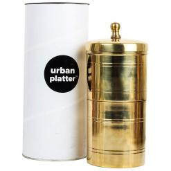 Urban Platter South Indian Drip Style, 100% Pure Brass Coffee Filter, 500ml
