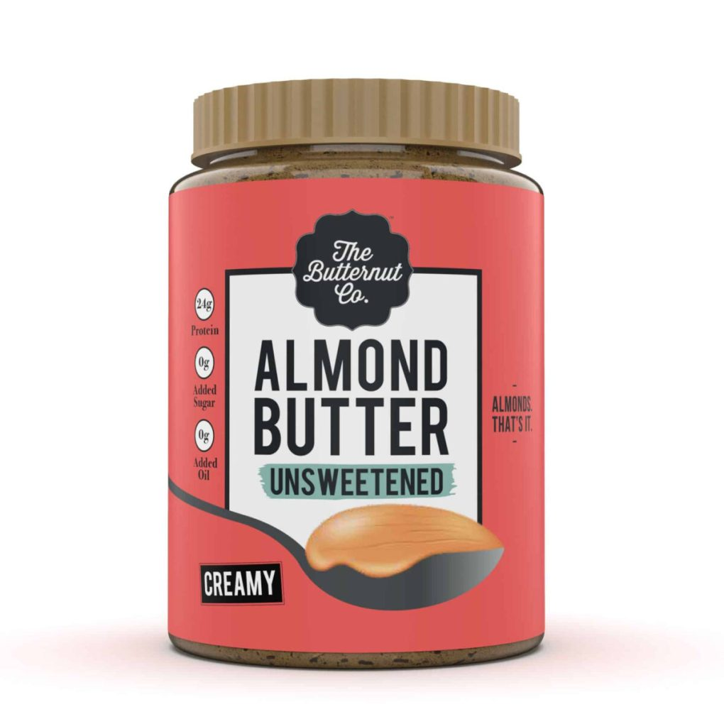 The Butternut Co. Unsweetened Creamy Almond Butter, 1Kg