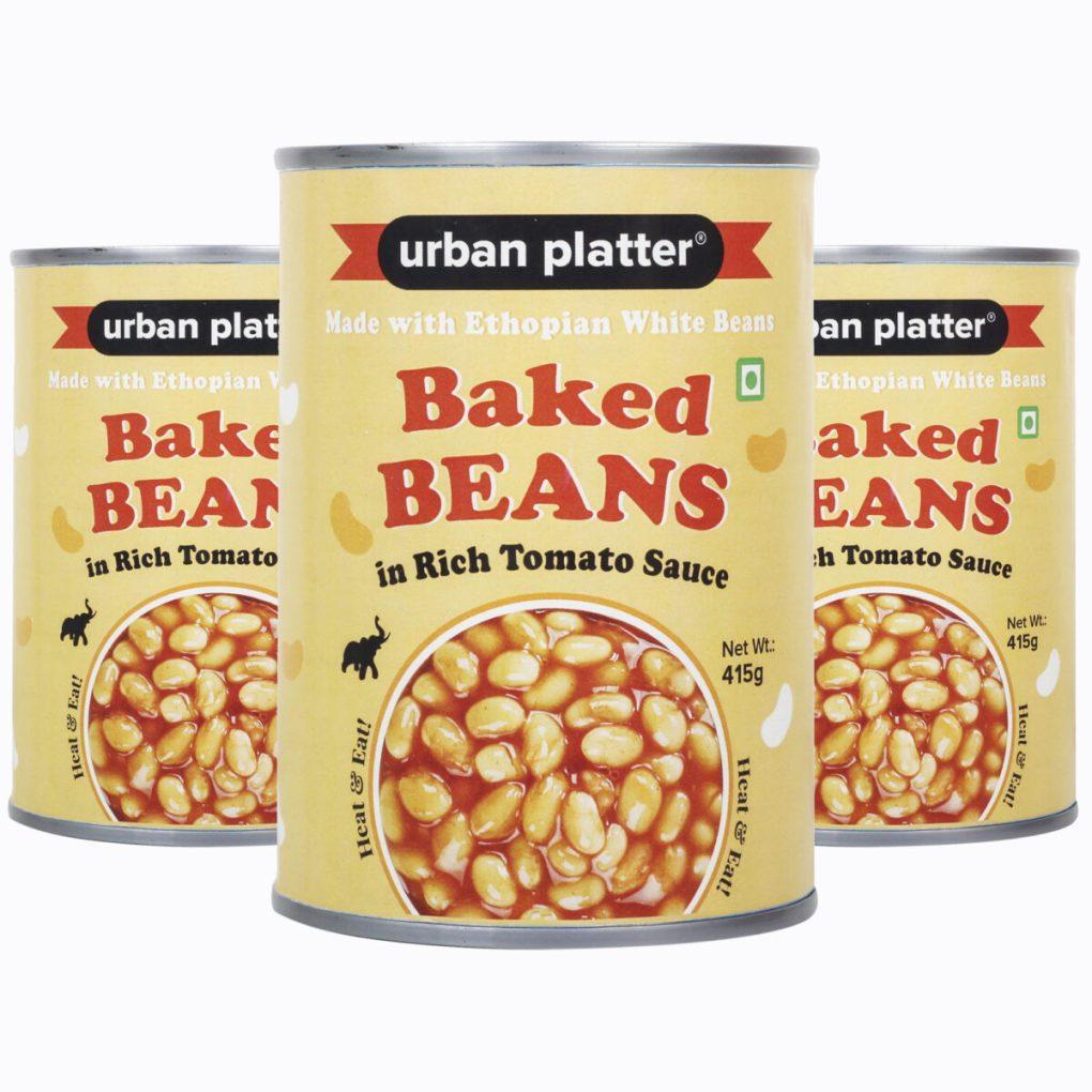 Urban Platter Baked Beans in Tomato Sauce, 415g (Pack of 3 x 415g)