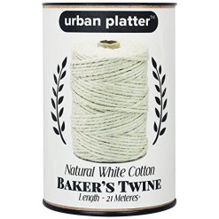 Urban Platter Baker's Kitchen Twine, 100% White Cotton