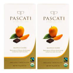 Pascati Chocolate Mango Dark USDA Organic Chocolate, 75g [Pack of 2]