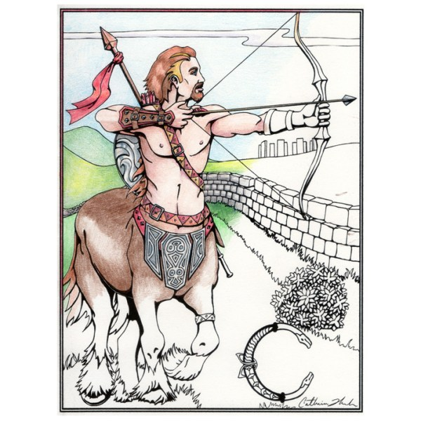 centaur poster and cards