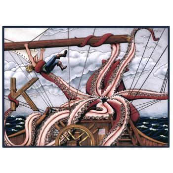 Full color kraken poster and cards