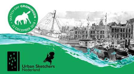 Sketch Day Groningen: Winterwelvaart
