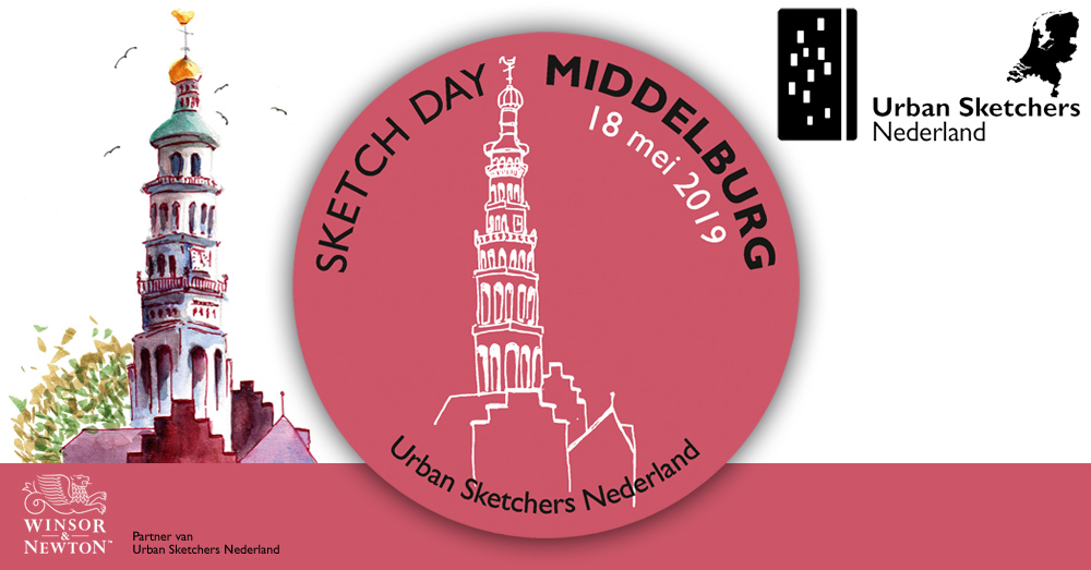 National Sketch Day Middelburg – 18 mei 2019