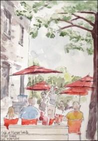 B Joni Vallo, red mbrellas
