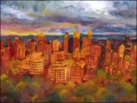 B Szablewska Karolina, Montreal from Mont Royal during Sunset 17x13