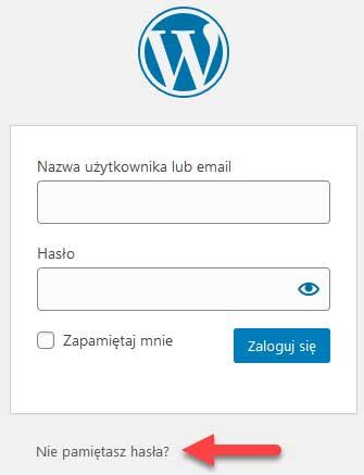 Formularz logowania do WordPress-a