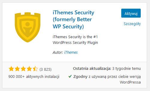 Zainstaluj i aktywuj wtyczkę iThemes Security