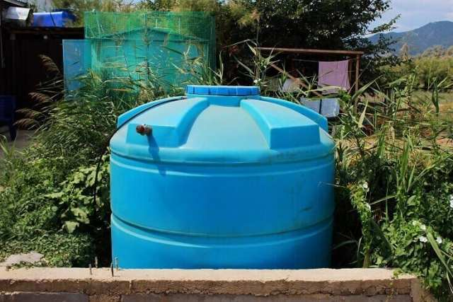 Water Storage Tank Outside