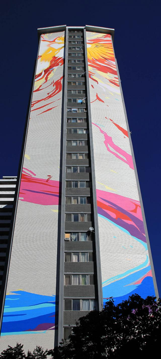 Mural on 200 Wellesley, Toronto Community Housing, STEPS initiative