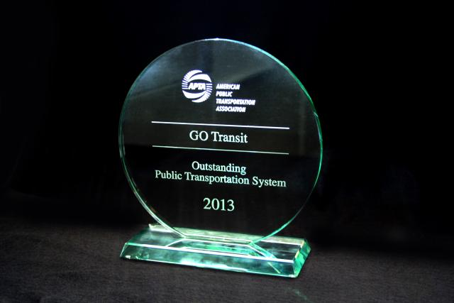 GO Transit Outstanding Public Transit Achievement Award Metrolinx GTHA Toronto