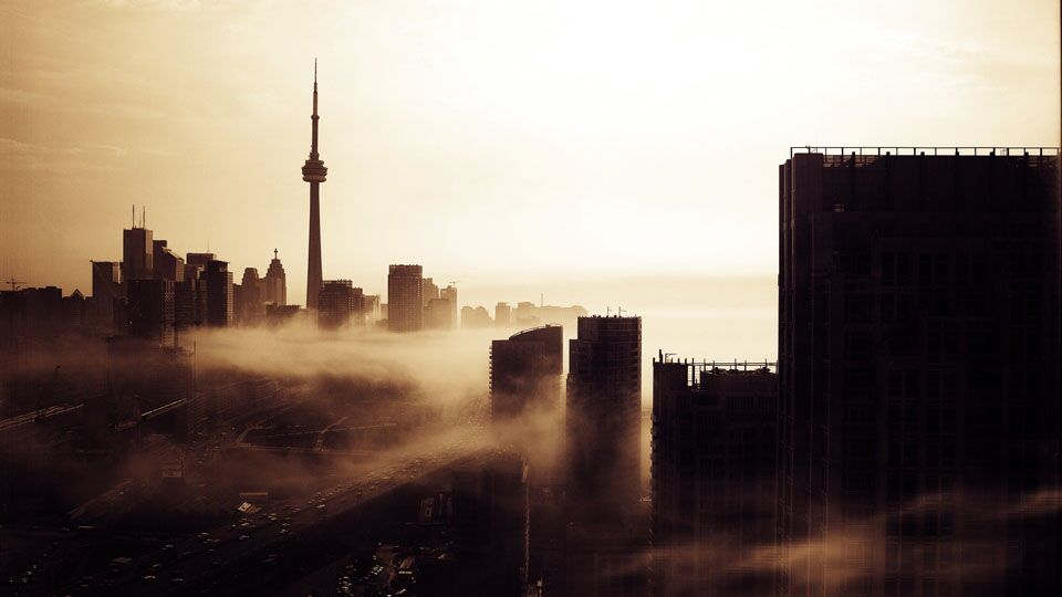 Photo Of The Day Morning Fog Flows Into The City Urban