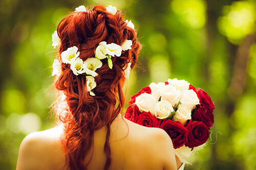 Braided Flower Updo Bridesmaid