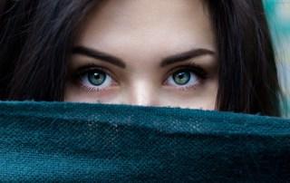 Woman with dark henna eyebrows