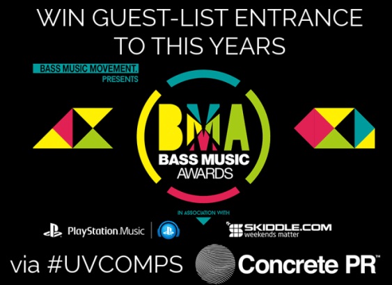 Win Guest List Entrance To The BASS MUSIC AWARDS 2015 + After Party @ The Ministry Of Sound (12th Nov) via #UVComps & Concrete PR