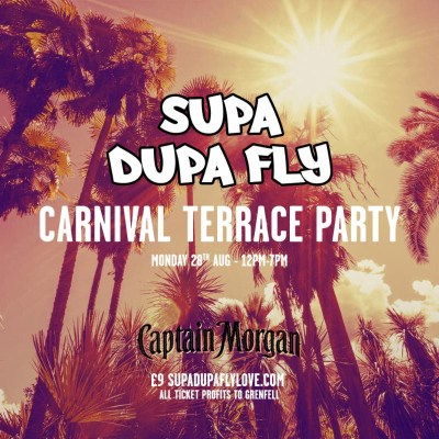 Supa Dupa Fly x Captain Morgan: Carnival Terrace Party @ Harrow Road, Ladbroke Grove, London, UK (28th Aug)