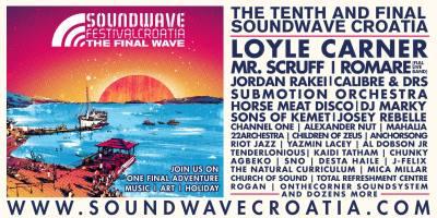 Soundwave Festival Croatia 2018 - THE FINAL WAVE @ The Garden, Tisno, Croatia (26th - 30th JULY)