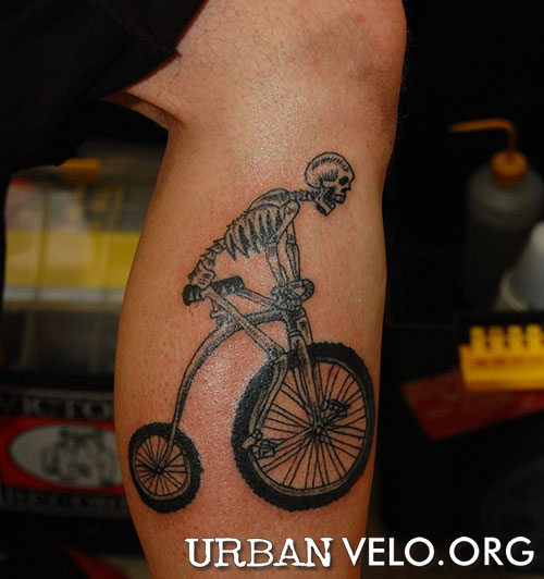 we asked our friends on MySpace to send us their bike tattoo photos.