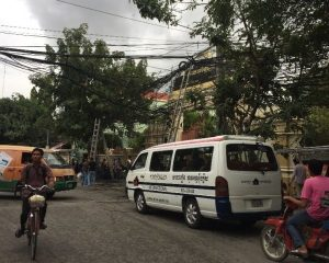 The Faulty Infrastructure: Tangled Overhead Wires in Phnom Penh