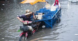 Drainage blamed for city flooding chaos