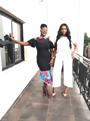 mercy johnson and ebube nwagbo at glo event