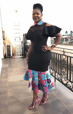 Mercy Johnson at Glo event