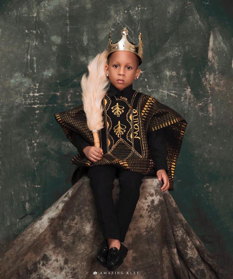 Toyin Lawani's son Tenola