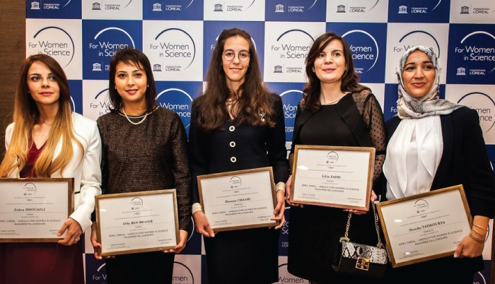 2019 L'Oréal-UNESCO Maghreb Fellowships for Women in Science