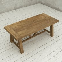 "78"" Farmhouse Dining Table Natural Urban Woodcraft"