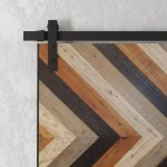40 Chevron Stained Barn Door Urban Woodcraft
