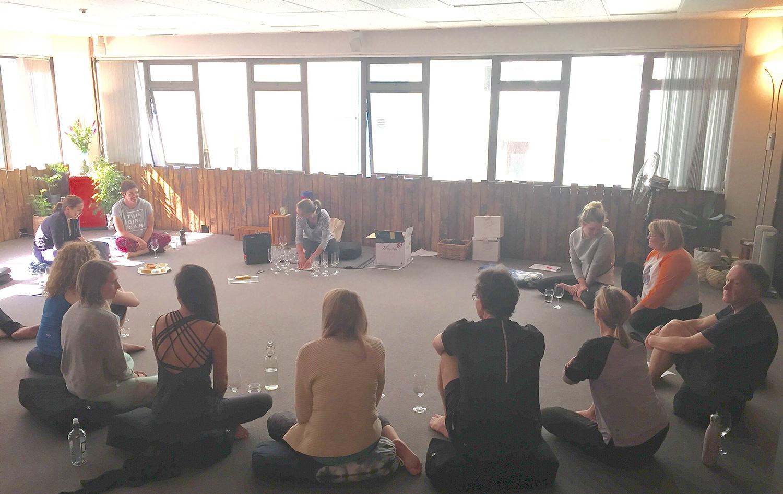 Yoga by the Glass Urban Yoga Wellington NZ
