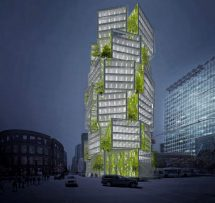 Renderings Of Stacked Cube Office Tower 400
