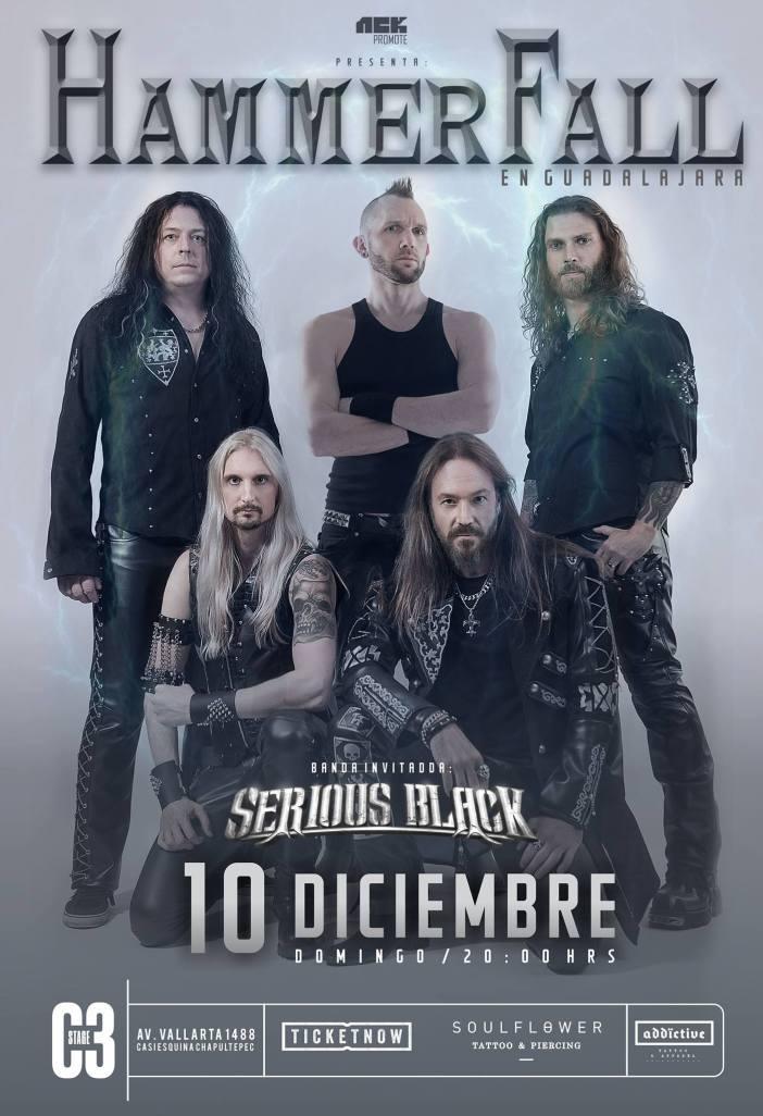 Hammerfall en Guadalajara 2017