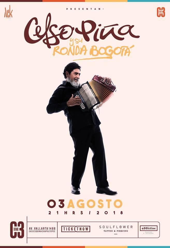 Celso Piña en Guadalajara 2018