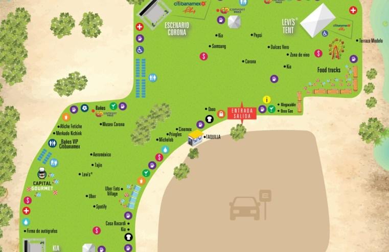Mapa Festival Corona Capital GDL 2019