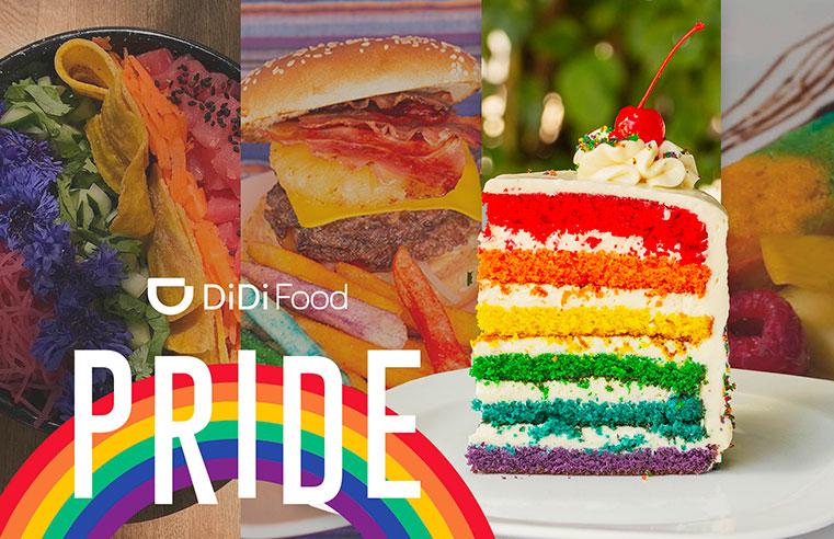 25 restaurantes en DiDi Food crean platillos de arcoíris para celebrar la diversidad sexual