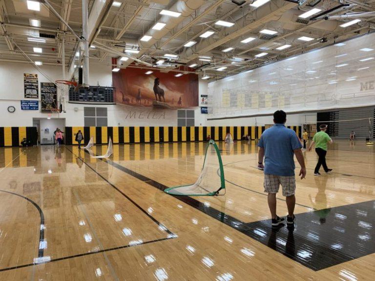 Refininshed Gym Floor