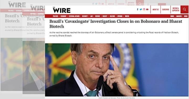 Jornal indiano explica em detalhes o 'covaxingate' no governo Bolsonaro