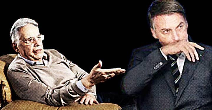 """""""Quanta incompetência na administração de coisas tão importantes, chega a assustar!"""", diz FHC a Bolsonaro"""