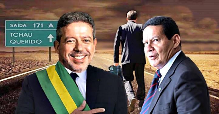 Se Mourão renunciar, Lira será o sucessor de Bolsonaro em caso de impeachment
