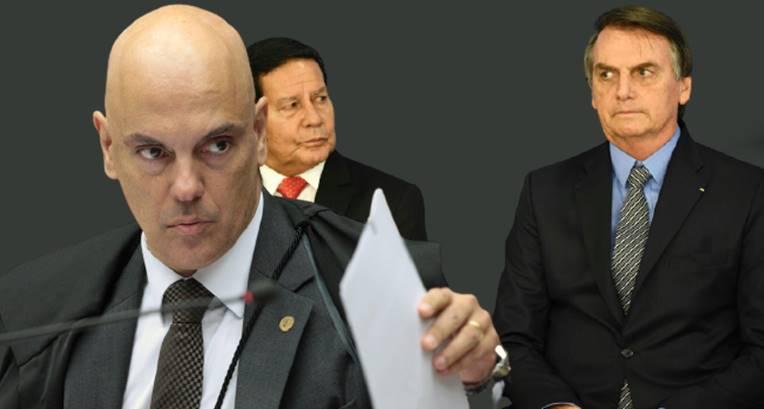 Moraes fortalece ações do TSE que podem levar à cassação da chapa Bolsonaro-Mourão