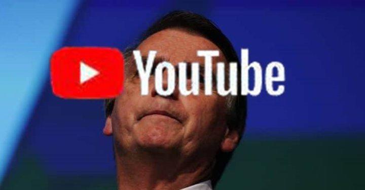 YouTube remove 15 vídeos de Bolsonaro e canal está prestes a ser derrubado