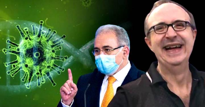 Reinaldo Azevedo sugere a Queiroga mostrar o dedo do meio para o vírus da Covid