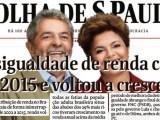 Folha divulga estudo que aponta queda na desigualdade de renda nos governos Lula e Dilma